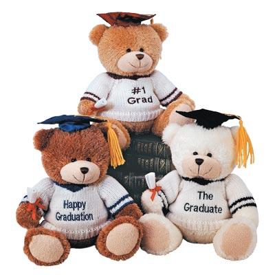 "10"" GRADUATION BEARS WITH KNITTED EMBROIDERED SWEATERS *NEW!*"